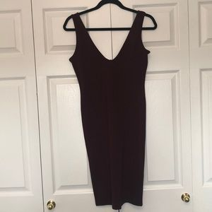 FOREVER 21 BODY CON dress ! Maroon in colour NEW